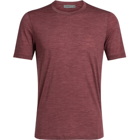 Icebreaker Sphere SS Crewe Top Men cabernet heather